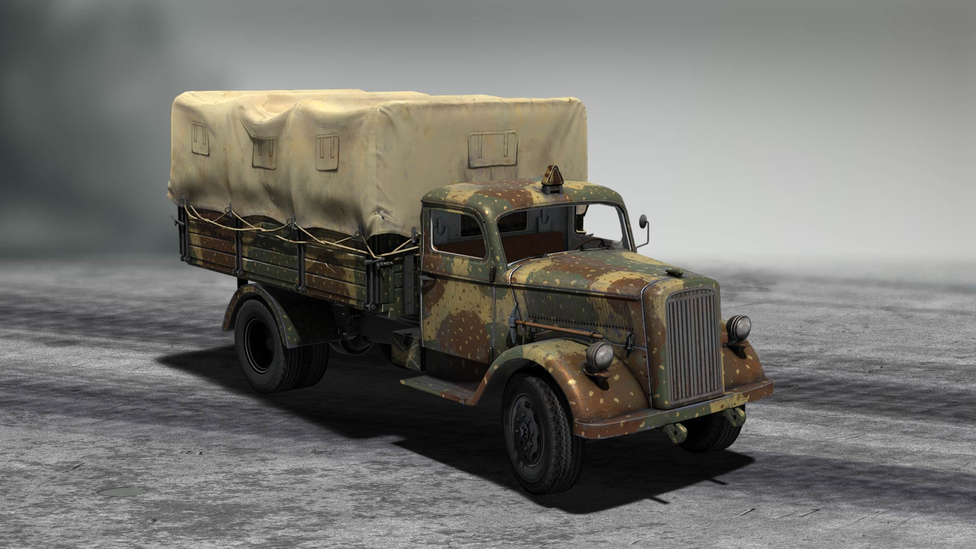 Half-track and truck
